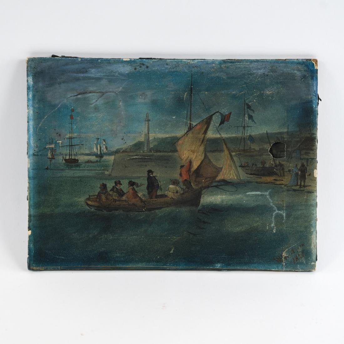 19TH C. SEASCAPE OIL ON PAPER