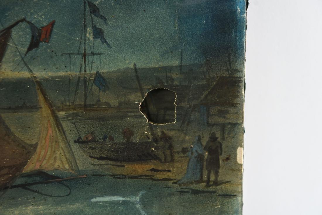 19TH C. SEASCAPE OIL ON PAPER - 4