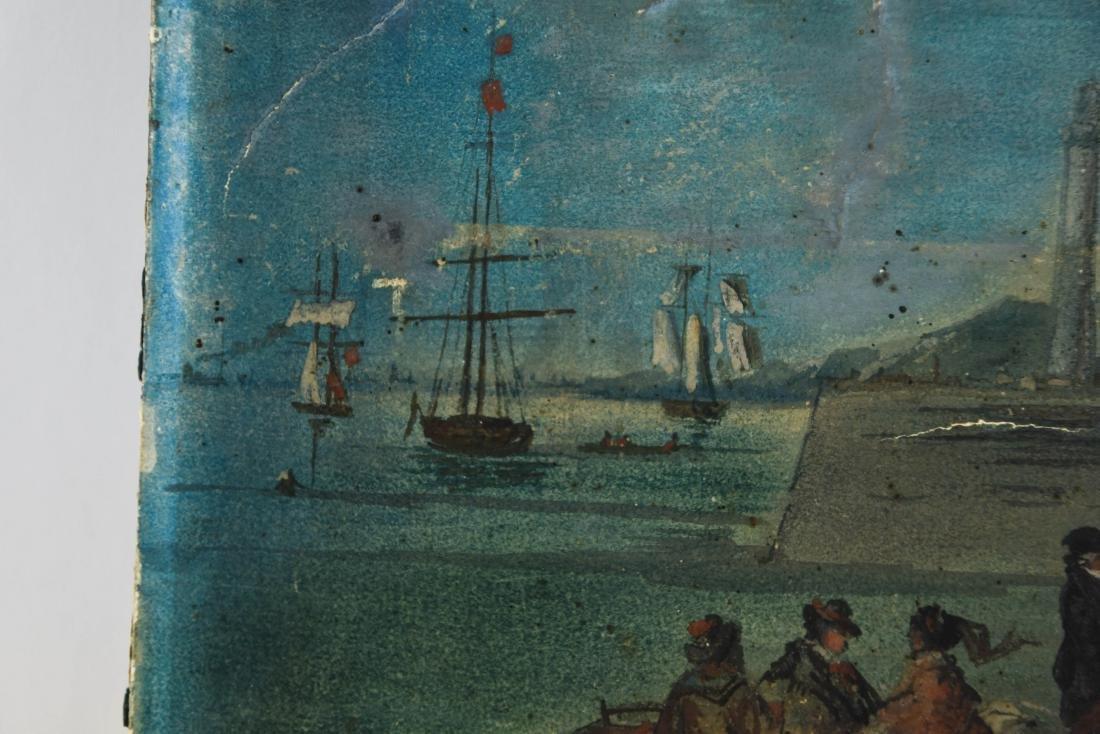 19TH C. SEASCAPE OIL ON PAPER - 8