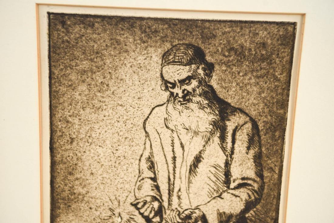 HERMAN STRUCK ETCHING OF RABBI - 2