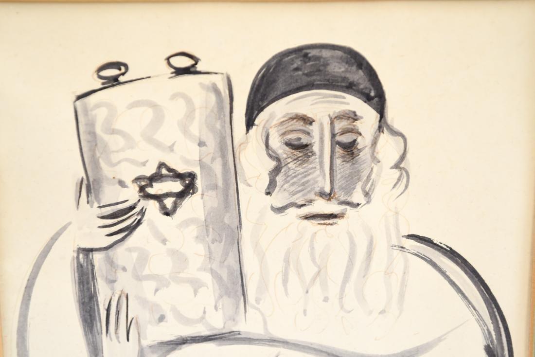 PEN & INK WASH OF RABBI - 3