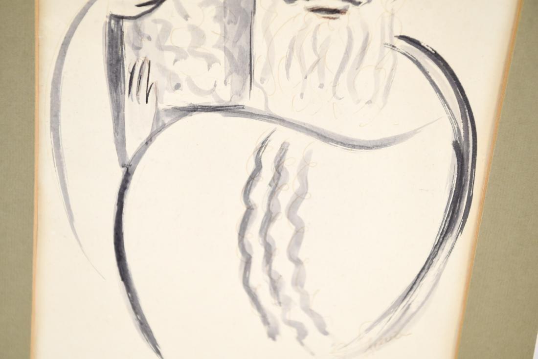 PEN & INK WASH OF RABBI - 4