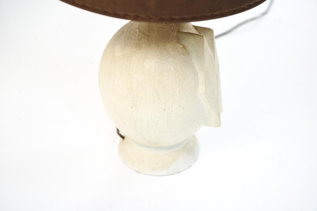 MID-CENTURY WHITE CERAMIC LAMP - 5