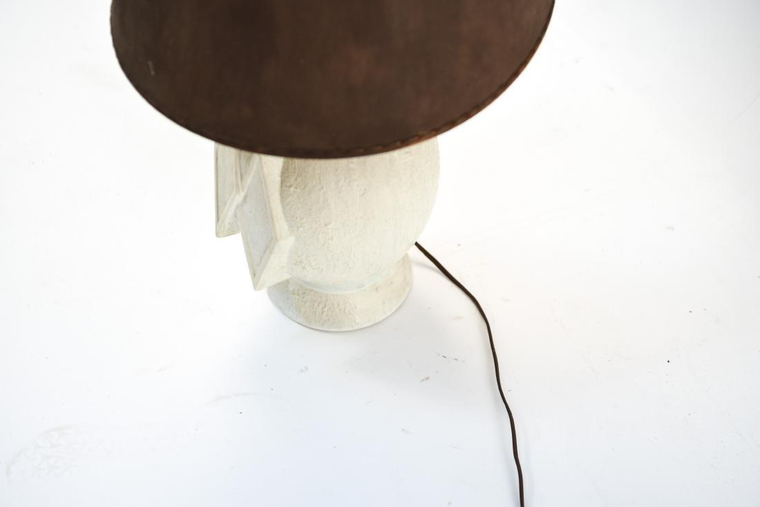 MID-CENTURY WHITE CERAMIC LAMP - 6