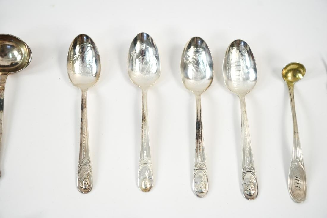 GROUPING OF SILVER PLATE FLATWARE - 5