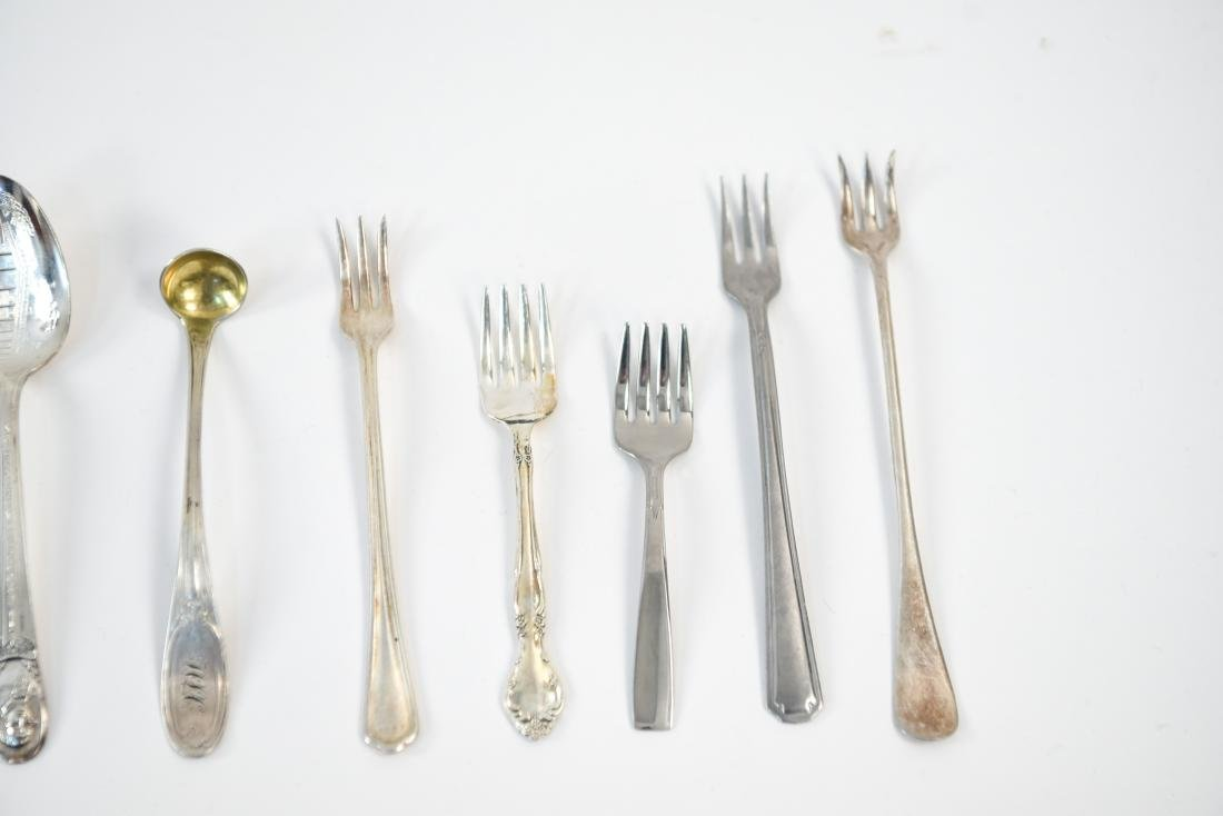 GROUPING OF SILVER PLATE FLATWARE - 6