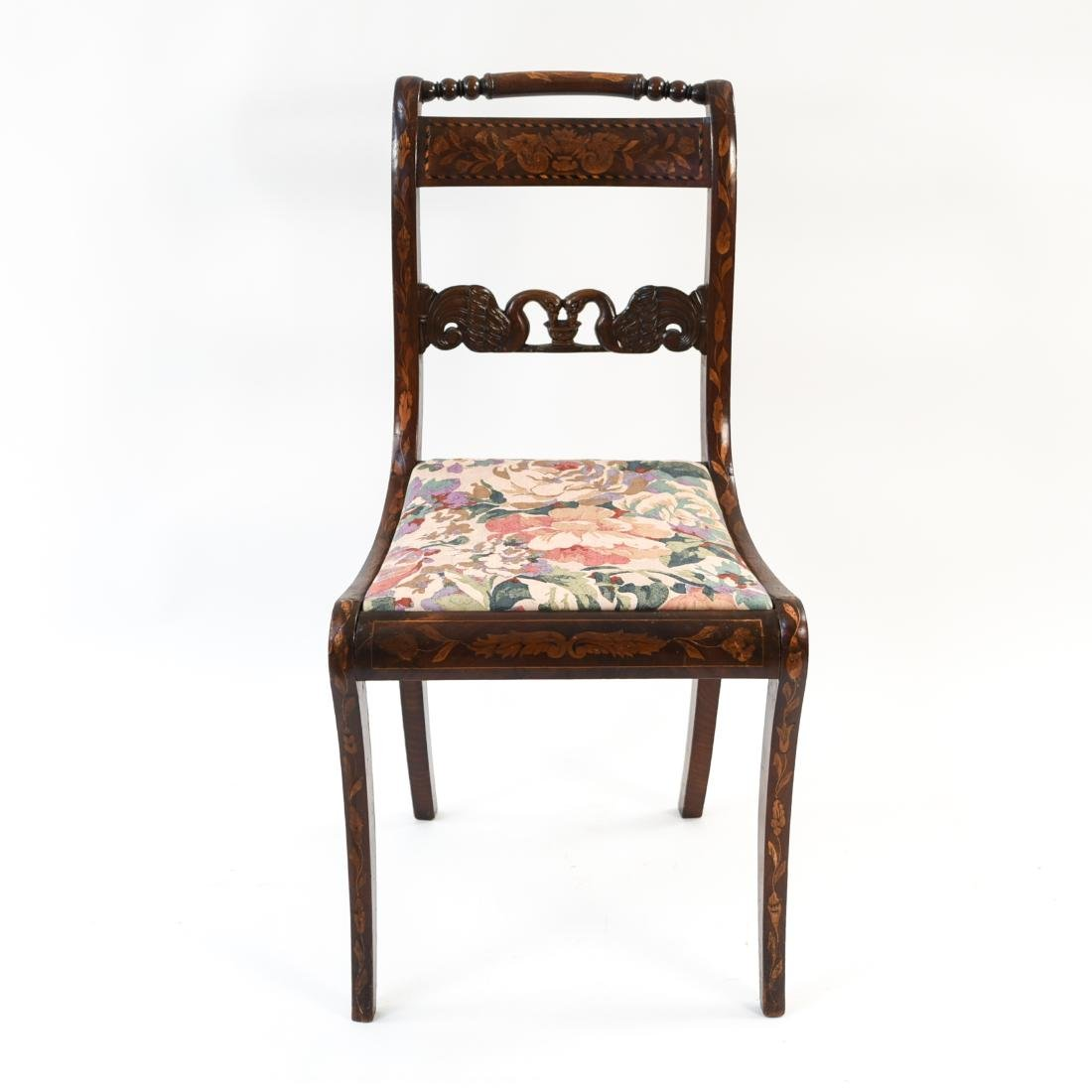 ANTIQUE INLAID SIDE CHAIR