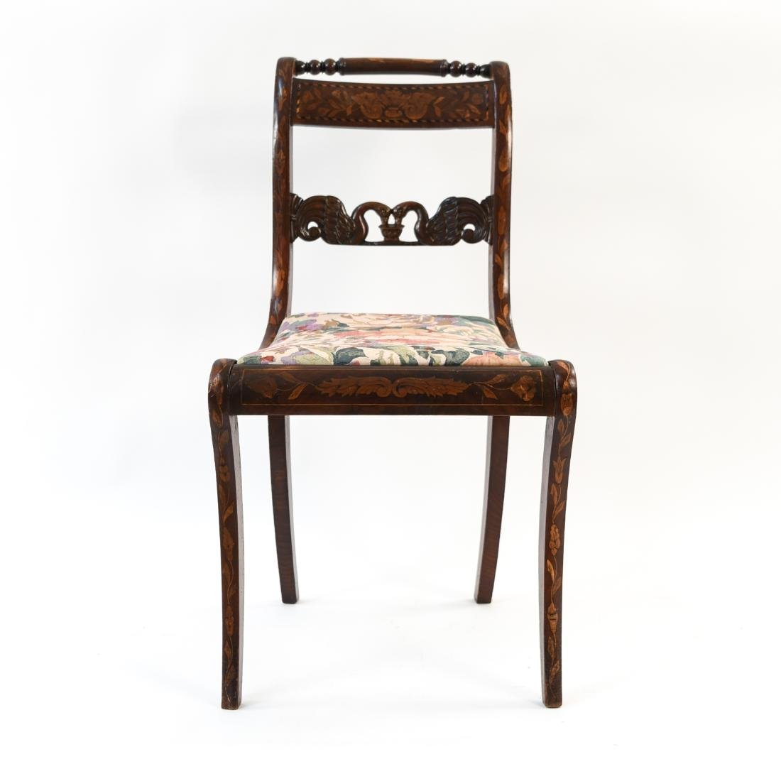 ANTIQUE INLAID SIDE CHAIR - 2