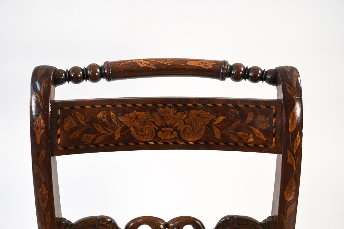 ANTIQUE INLAID SIDE CHAIR - 3