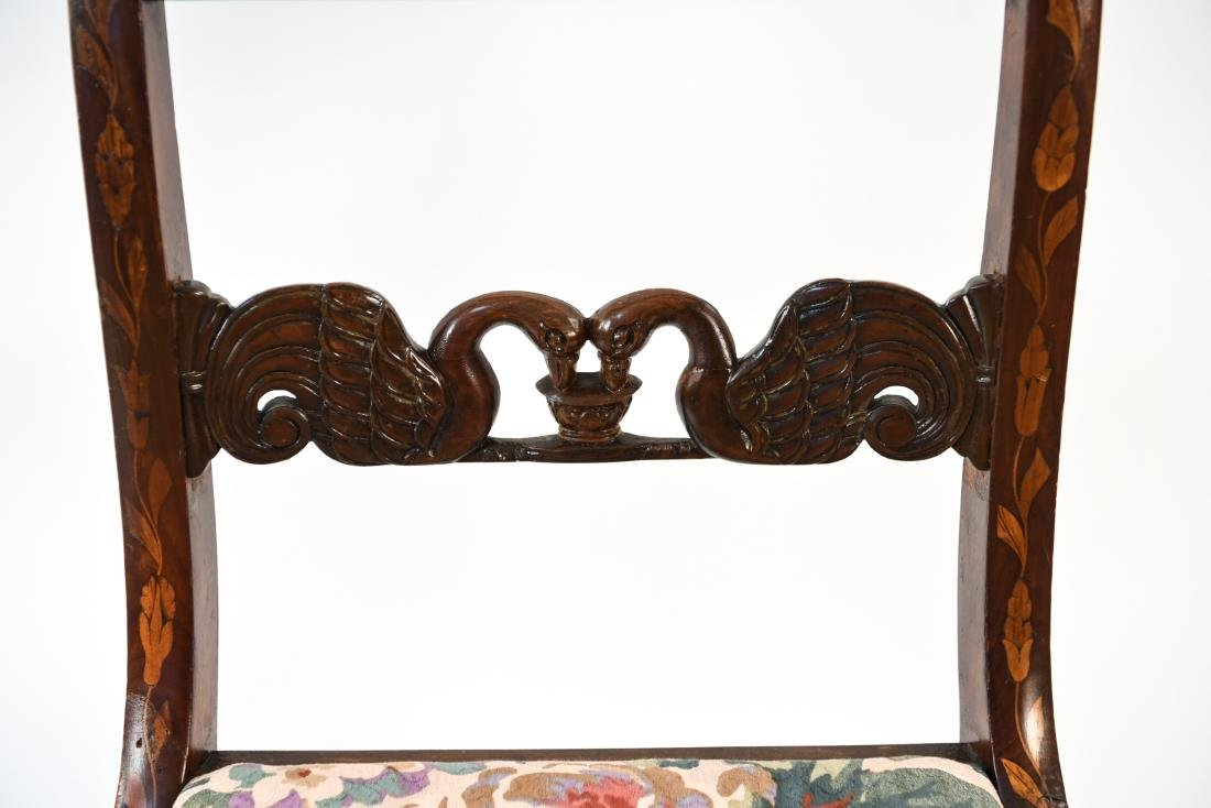 ANTIQUE INLAID SIDE CHAIR - 4