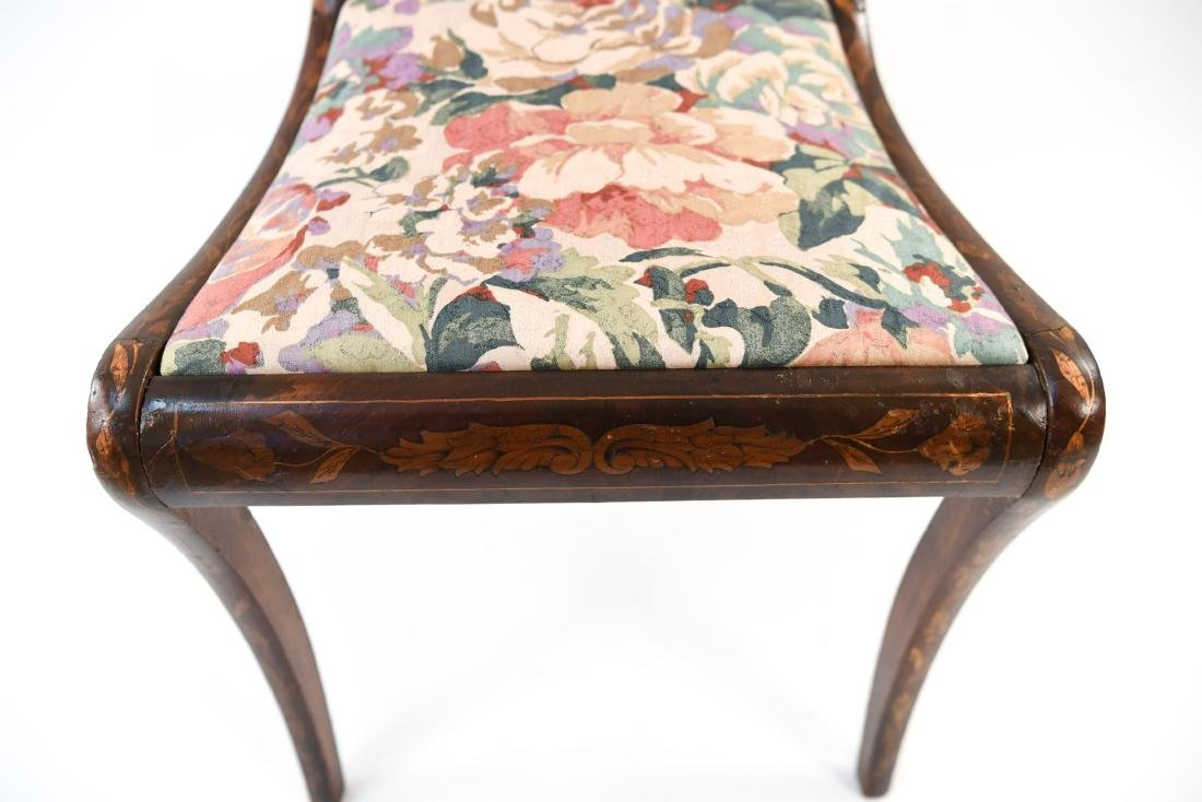 ANTIQUE INLAID SIDE CHAIR - 6