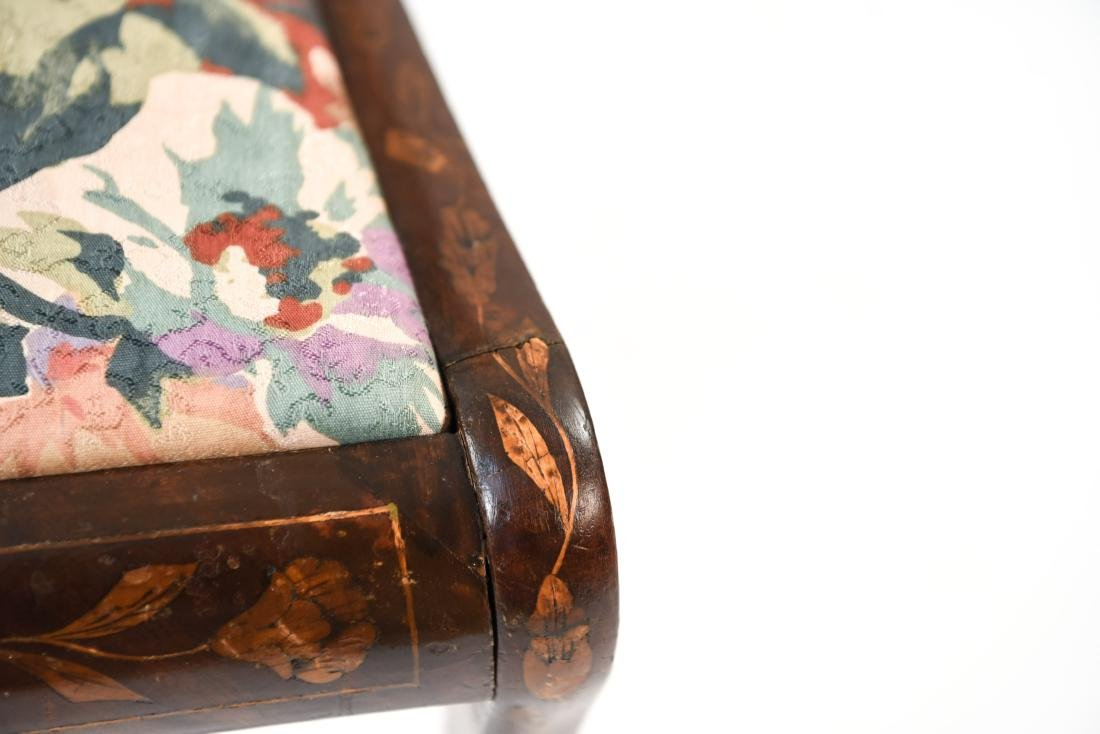 ANTIQUE INLAID SIDE CHAIR - 7