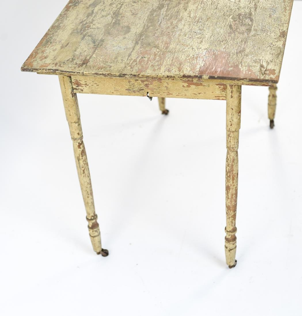 VINTAGE FOLDING TABLE W/ OLD PAINT - 10