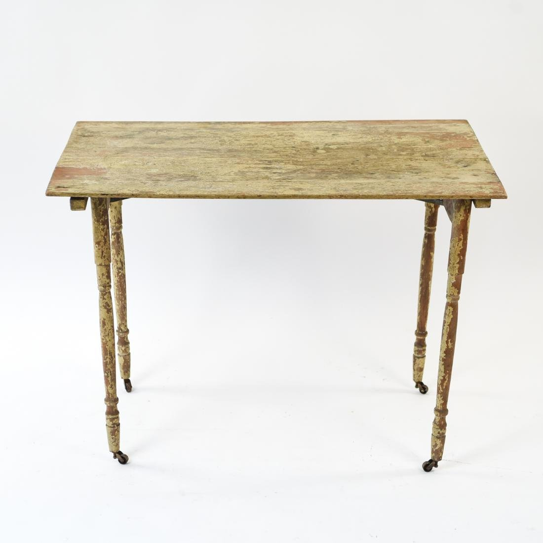 VINTAGE FOLDING TABLE W/ OLD PAINT