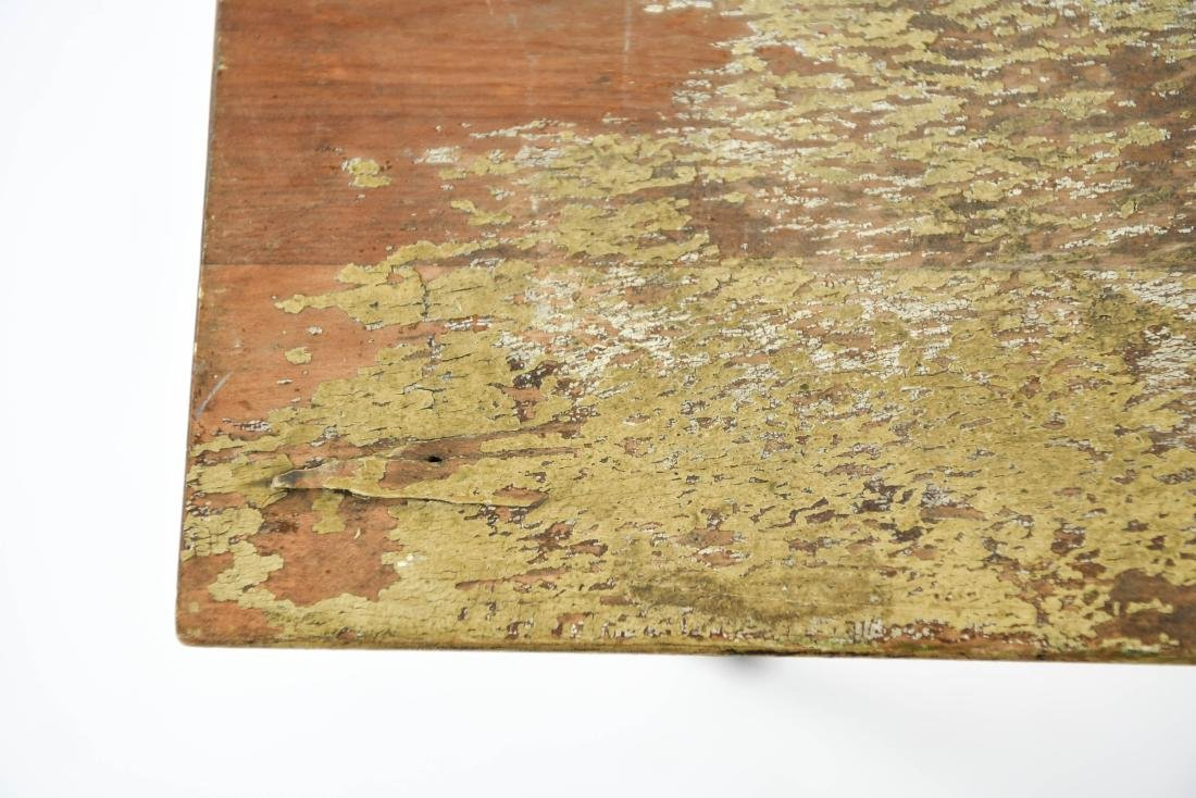 VINTAGE FOLDING TABLE W/ OLD PAINT - 3
