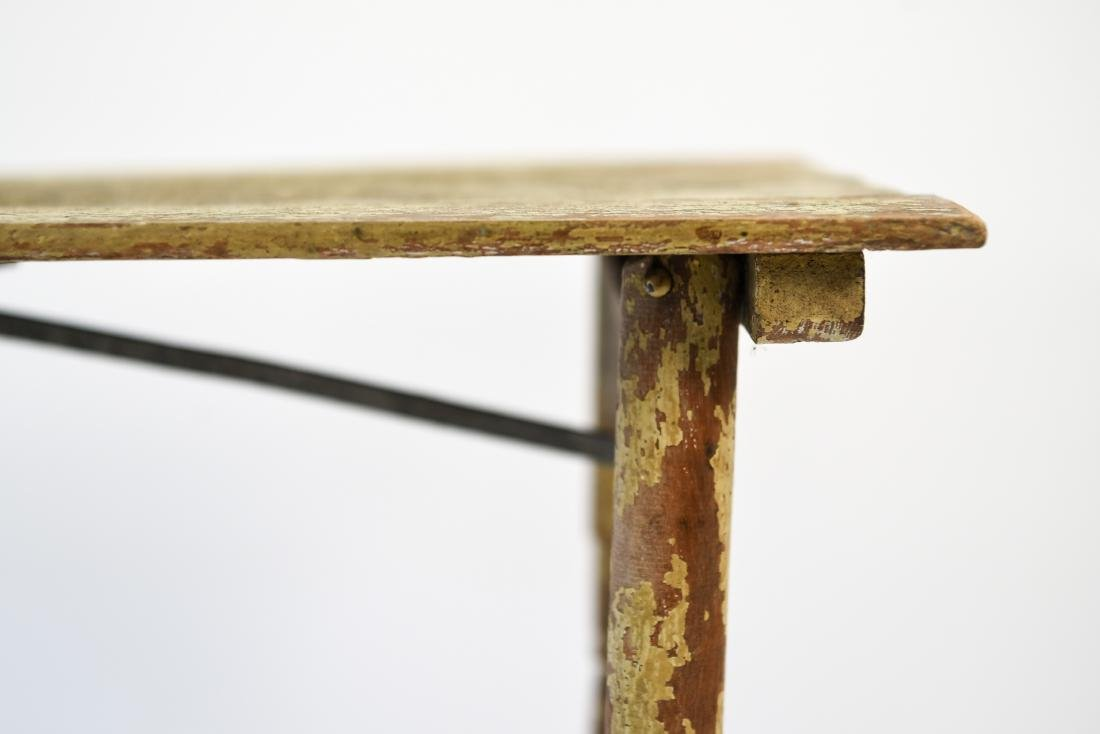 VINTAGE FOLDING TABLE W/ OLD PAINT - 6