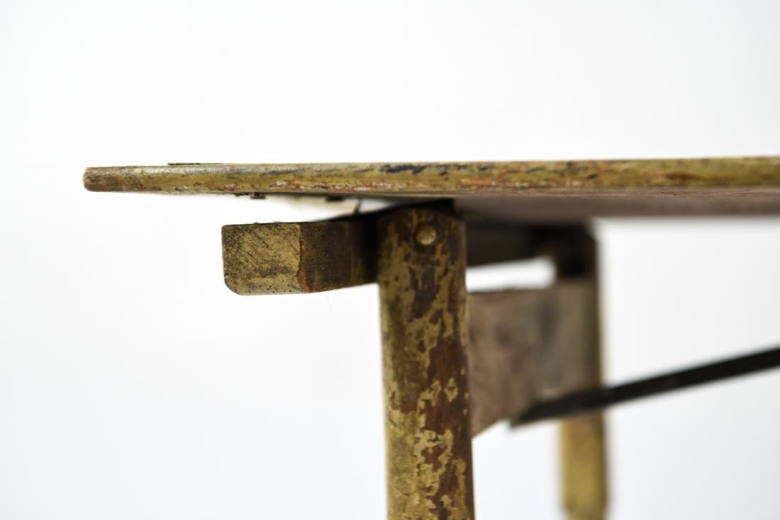 VINTAGE FOLDING TABLE W/ OLD PAINT - 9