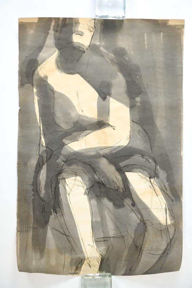 MODERN ABSTRACT INK & WASH FIGURE