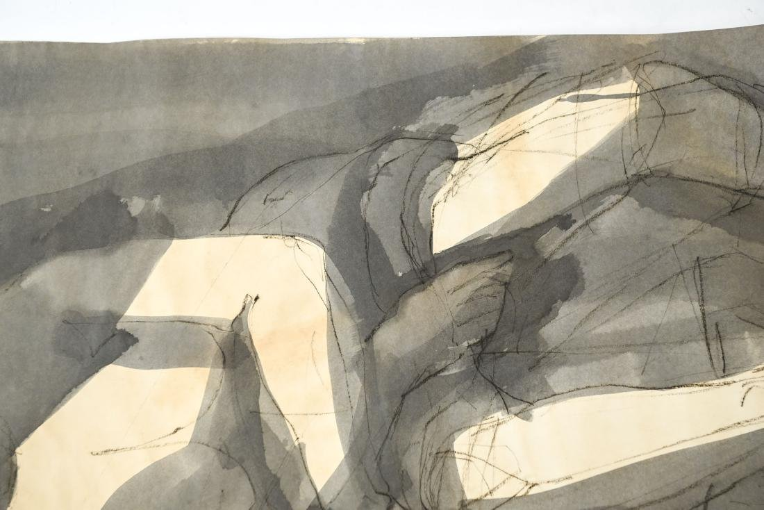 MODERN ABSTRACT INK & WASH FIGURE - 4