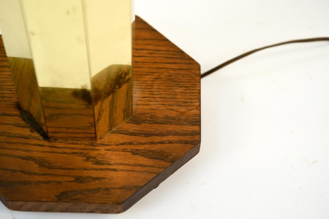 PAIR OF BRASS & WOOD FLOOR LAMPS - 7