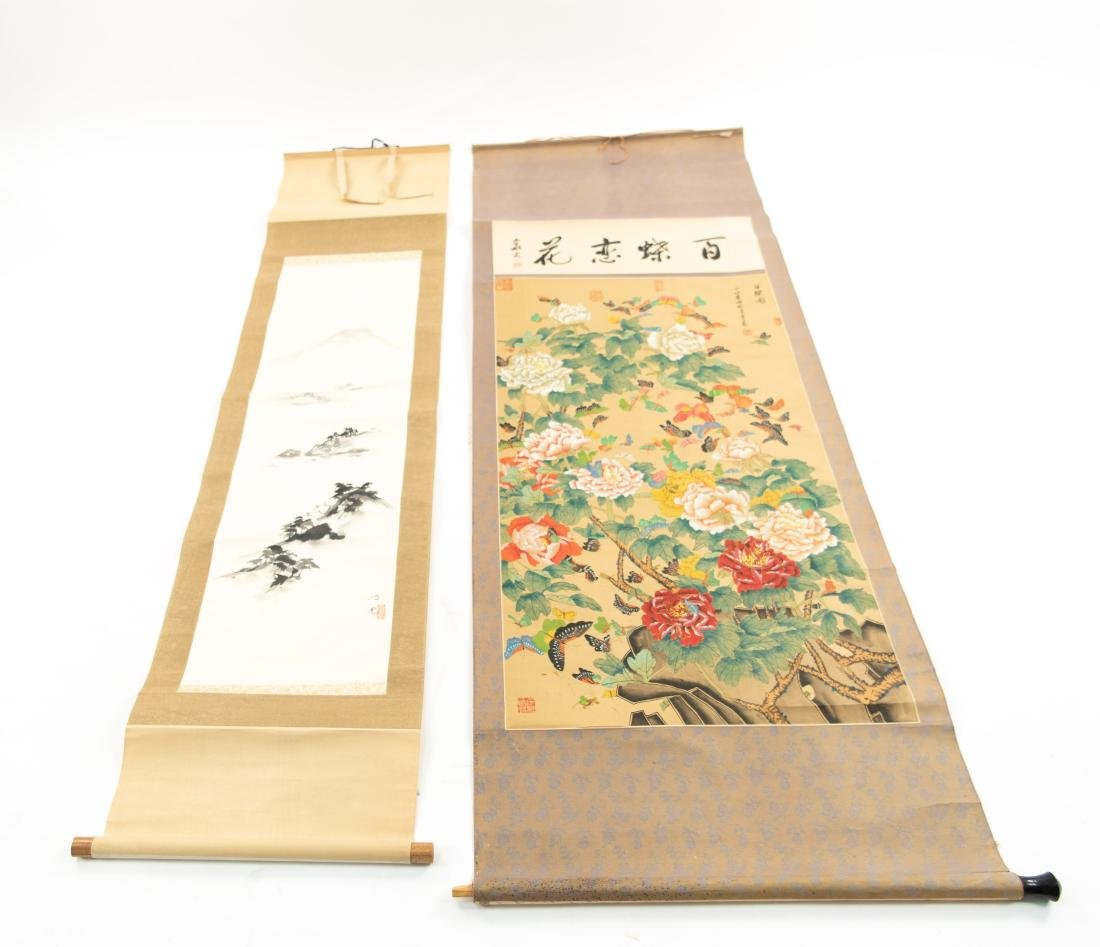 (2) MODERN CHINESE SCROLL PAINTINGS
