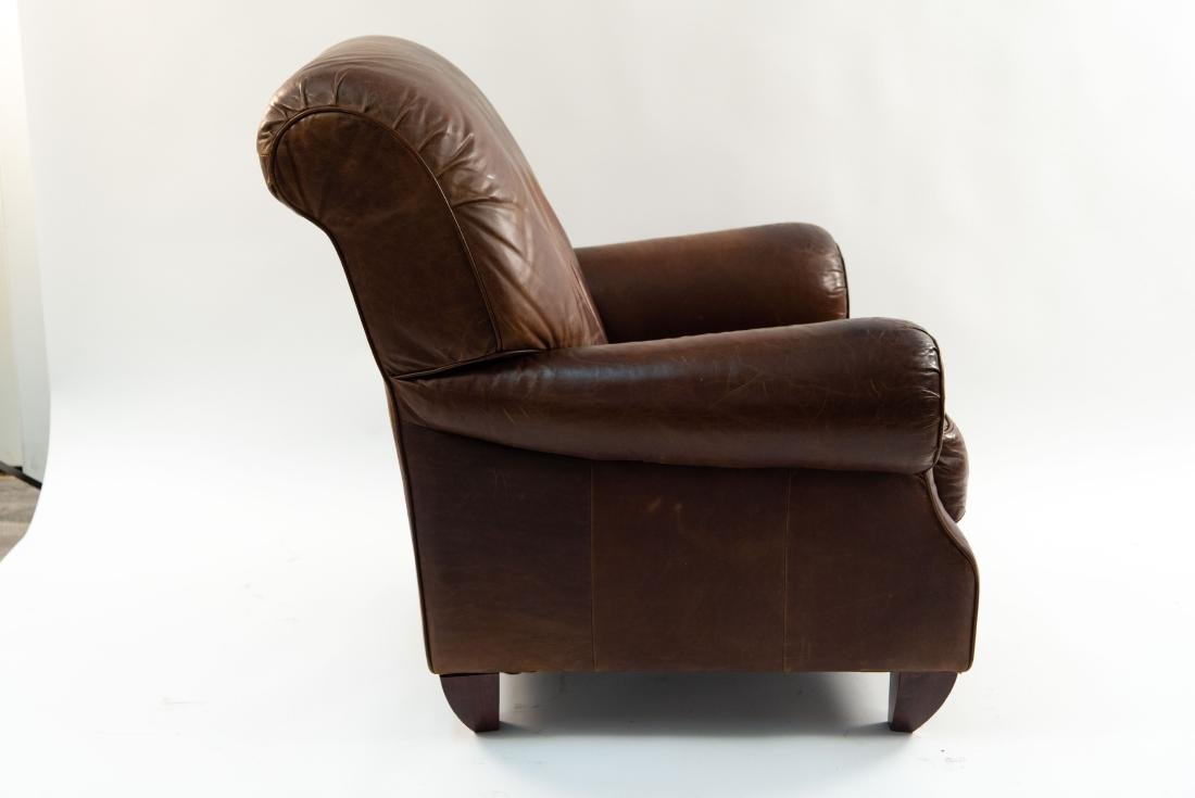 VINTAGE LEATHER LOUNGE CHAIR - 10
