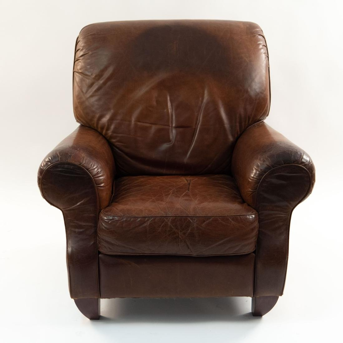 VINTAGE LEATHER LOUNGE CHAIR