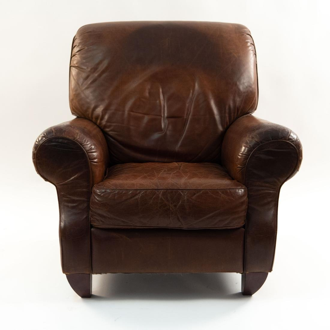 VINTAGE LEATHER LOUNGE CHAIR - 2
