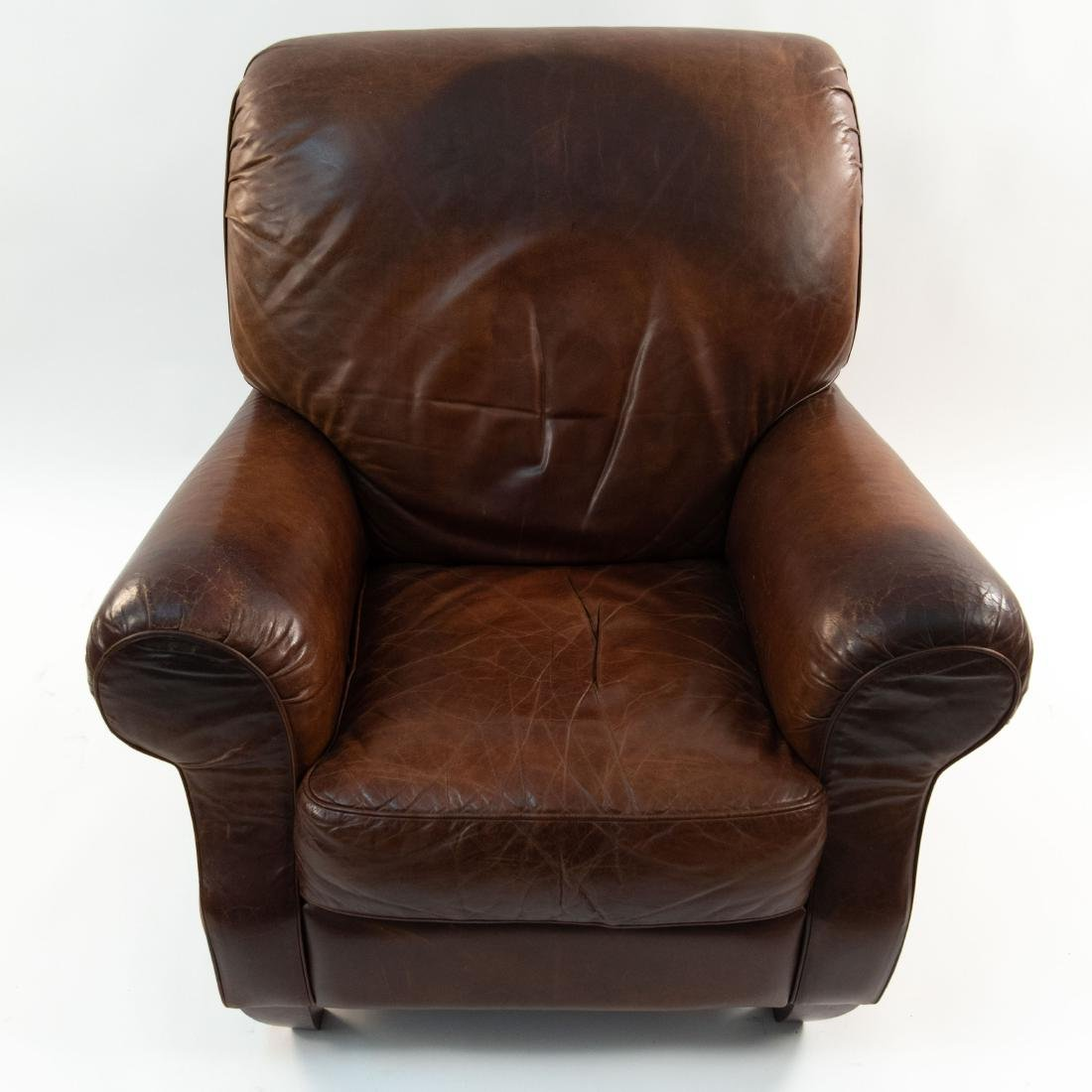 VINTAGE LEATHER LOUNGE CHAIR - 3