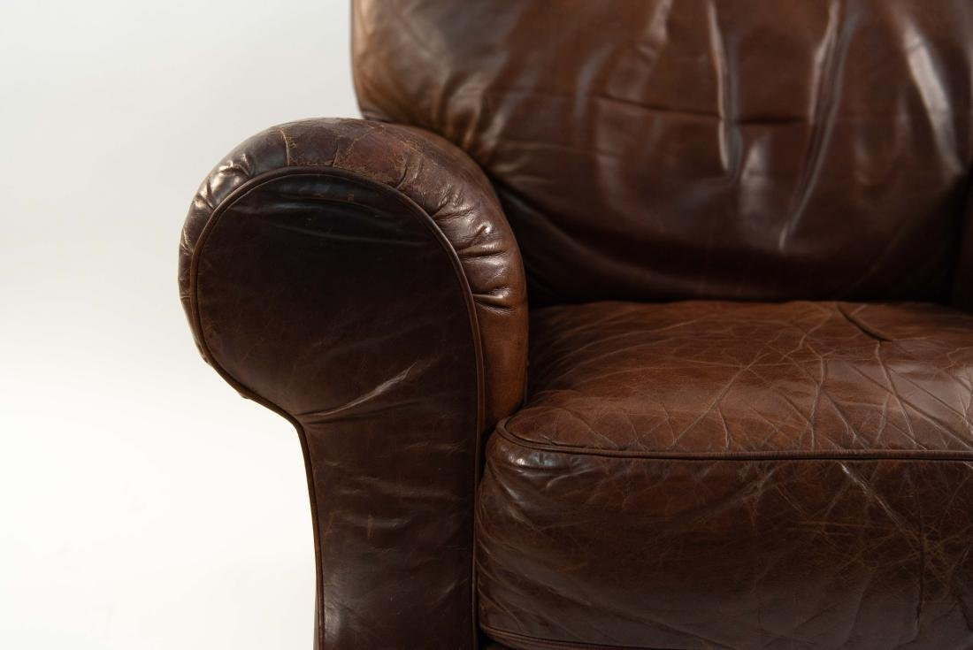 VINTAGE LEATHER LOUNGE CHAIR - 4