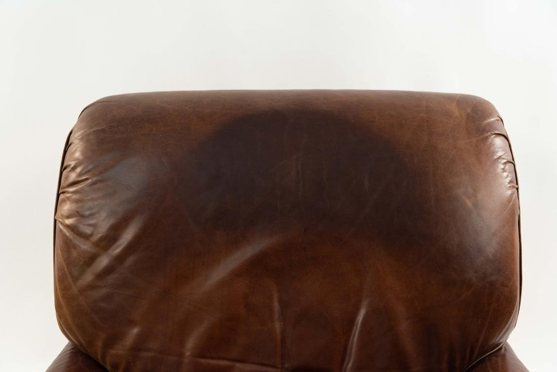 VINTAGE LEATHER LOUNGE CHAIR - 6
