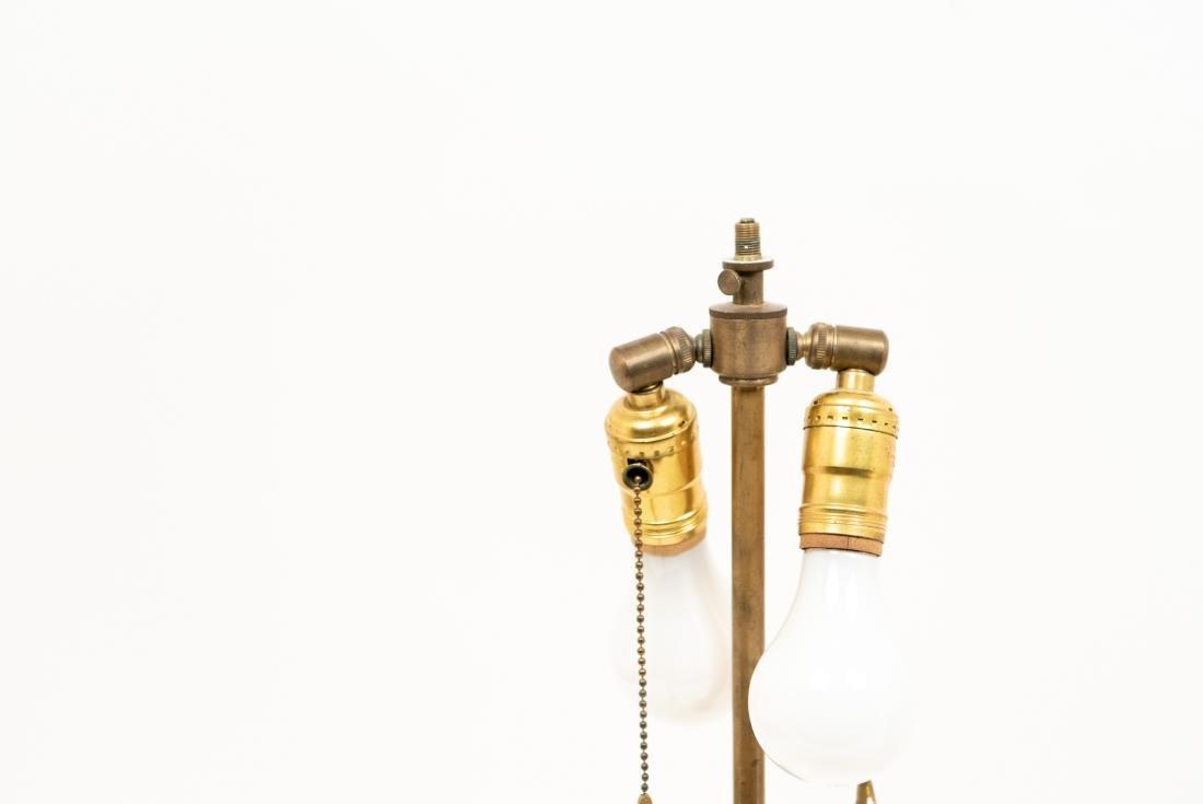 PAIR OF WHITE CERAMIC LAMPS - 6