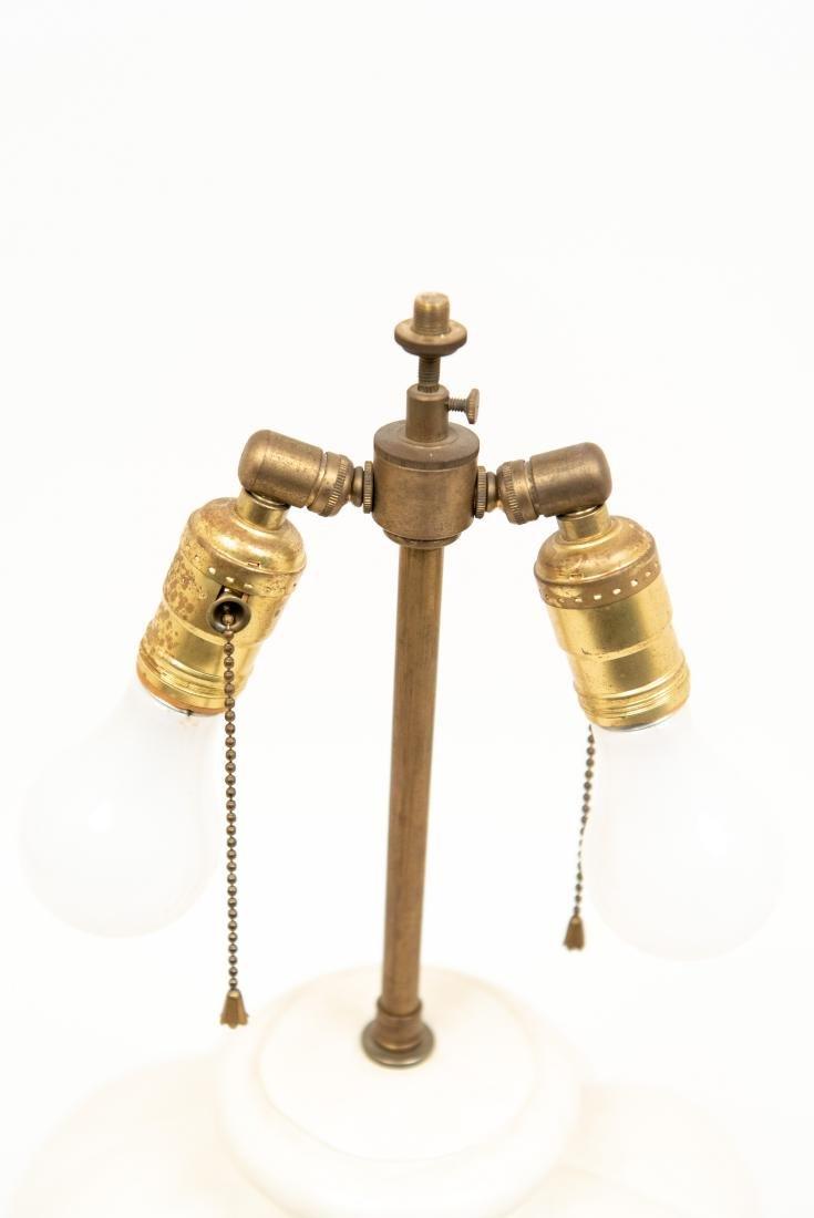 PAIR OF WHITE CERAMIC LAMPS - 5