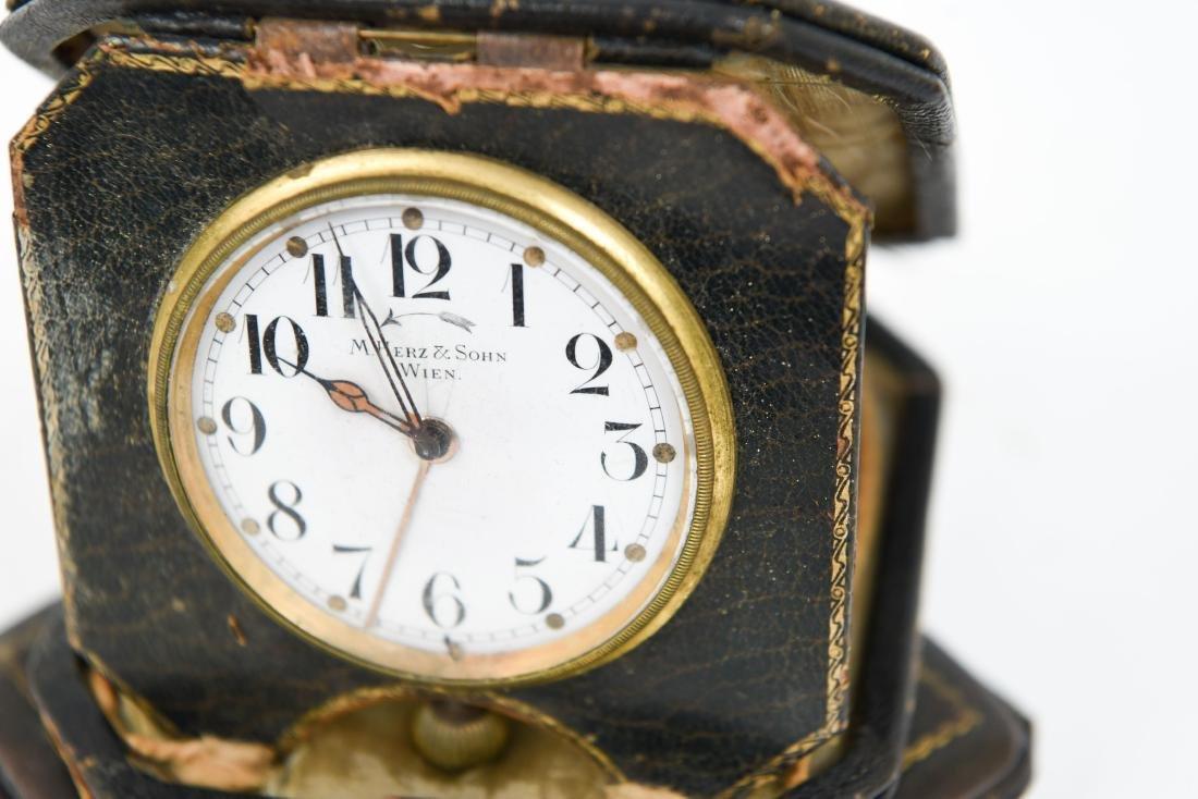 (2) ANTIQUE DESK POCKET WATCH CLOCKS - 10