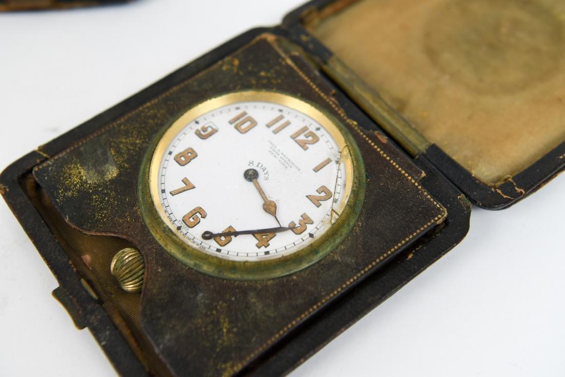 (2) ANTIQUE DESK POCKET WATCH CLOCKS - 3