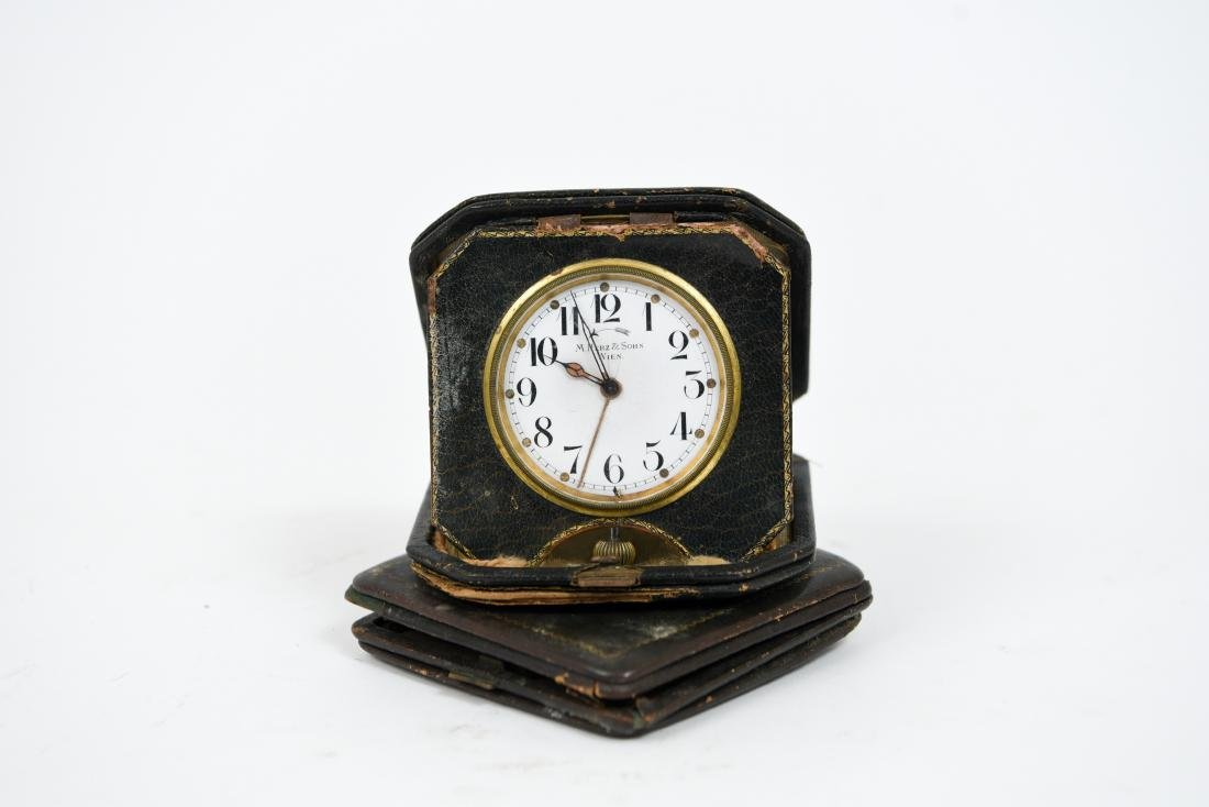 (2) ANTIQUE DESK POCKET WATCH CLOCKS - 9