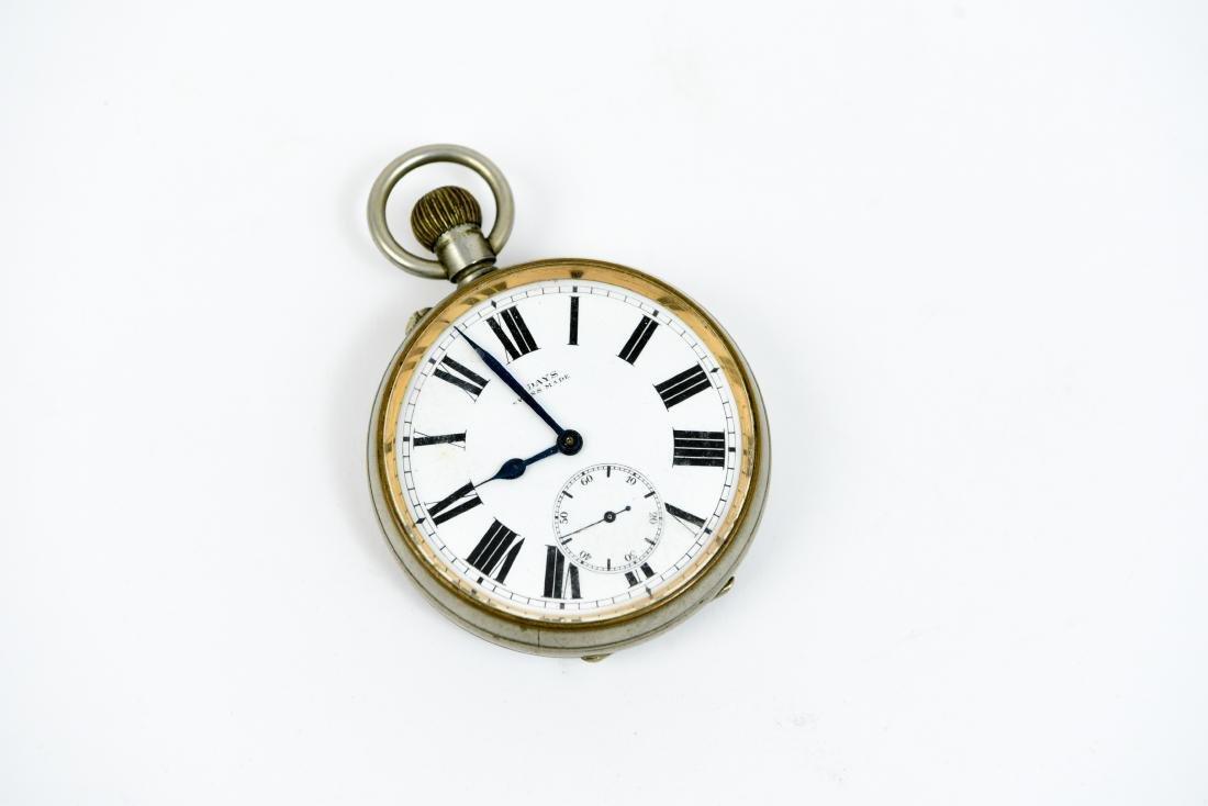 SWISS MADE 8 DAY POCKET WATCH CLOCK