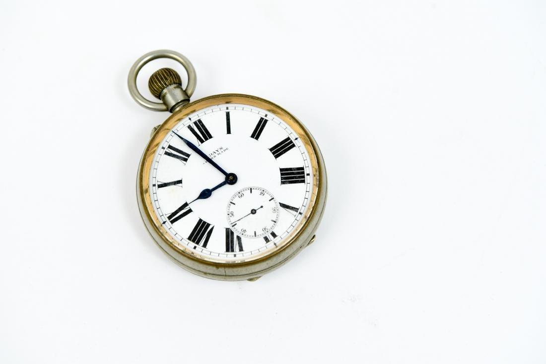 SWISS MADE 8 DAY POCKET WATCH CLOCK - 3