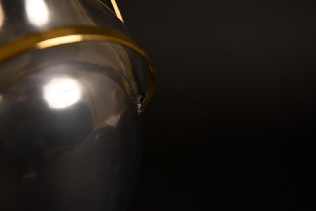 MODERNIST BRASS & CHROME TABLE LAMP - 6