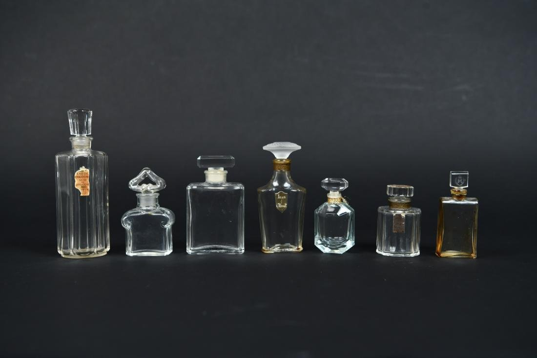 FRENCH PERFUME BOTTLE GROUPING