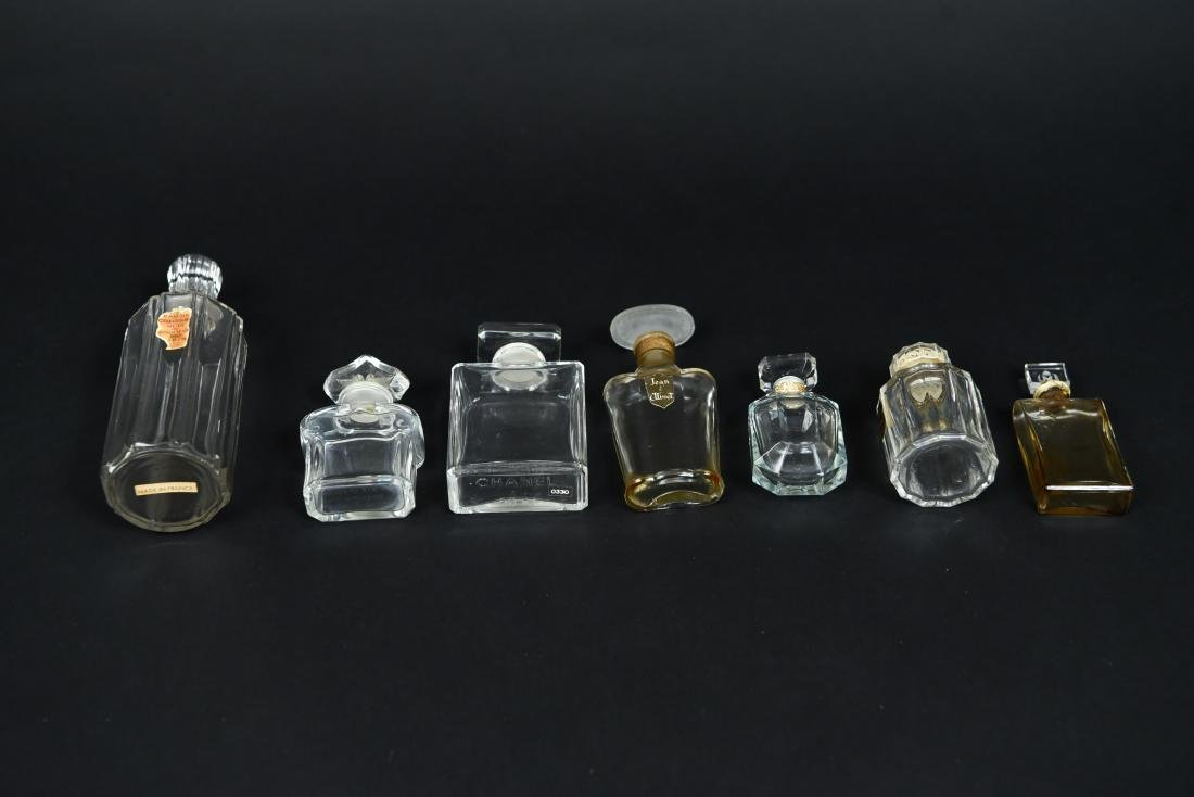 FRENCH PERFUME BOTTLE GROUPING - 7