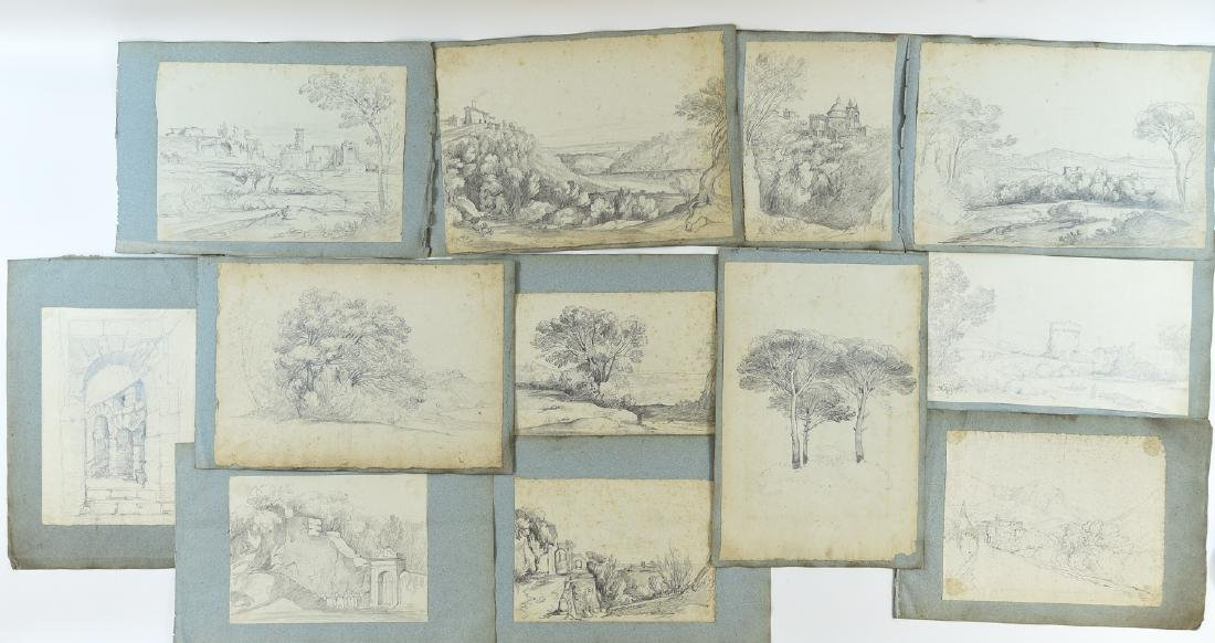 (12) LEAVES OF AN 1820'S/1930'S ITALIAN ART ALBUM