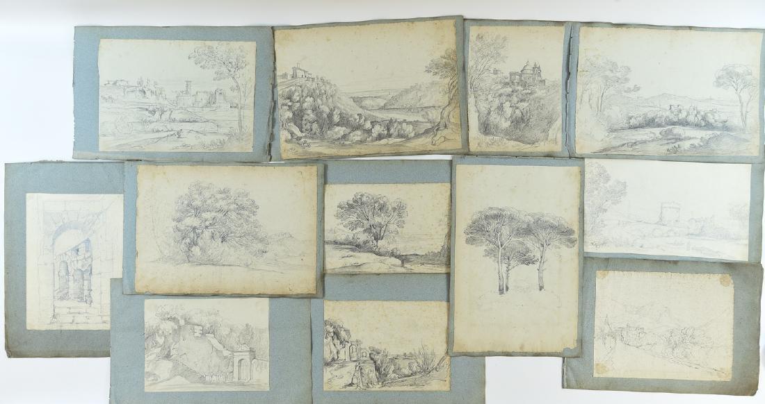(12) LEAVES OF AN 1820'S/1930'S ITALIAN ART ALBUM