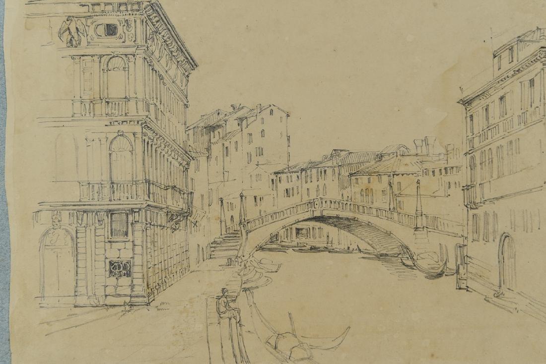 (3) LEAVES OF AN 1820'S/1930'S ITALIAN ART ALBUM - 2