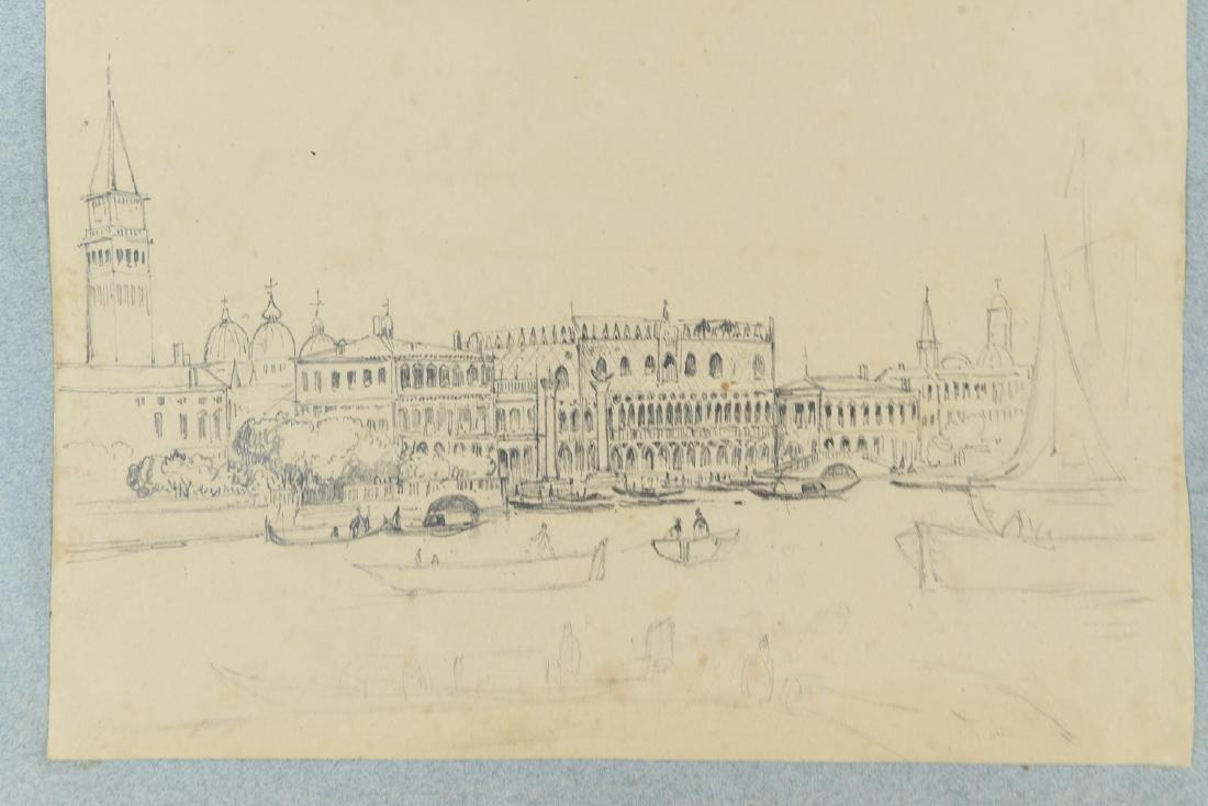 (3) LEAVES OF AN 1820'S/1930'S ITALIAN ART ALBUM - 3