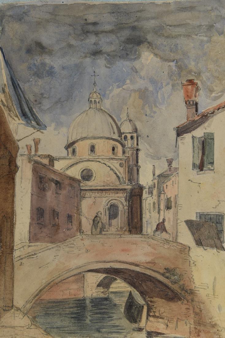 (3) LEAVES OF AN 1820'S/1930'S ITALIAN ART ALBUM - 4