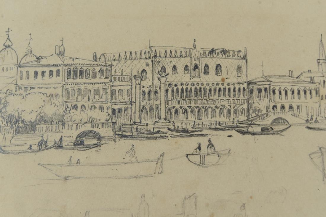 (3) LEAVES OF AN 1820'S/1930'S ITALIAN ART ALBUM - 6