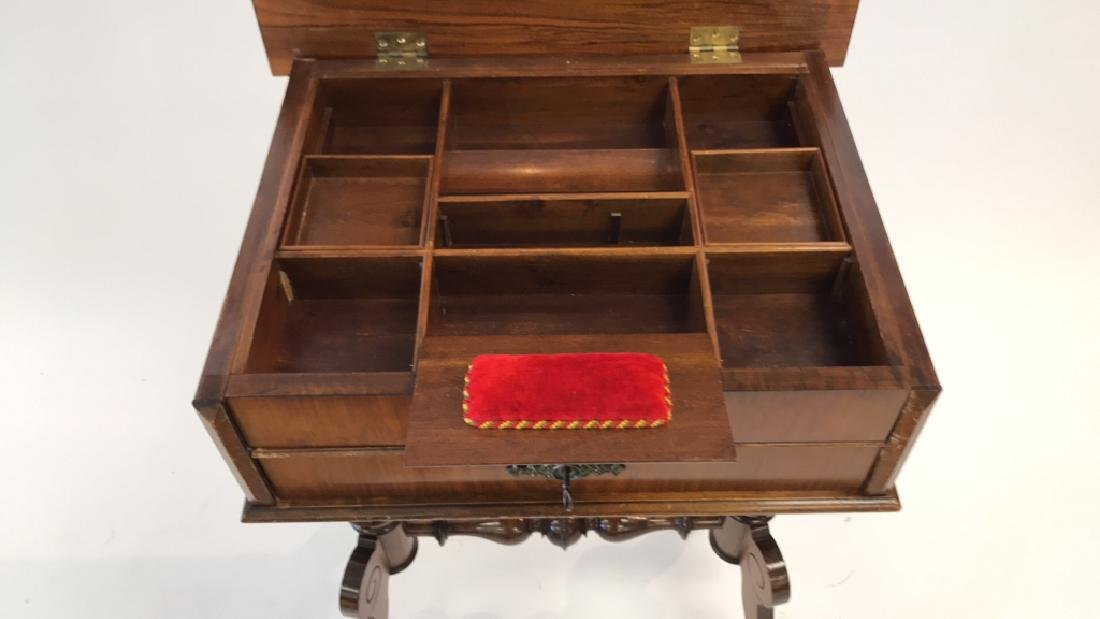 ANTIQUE SEWING TABLE - 7