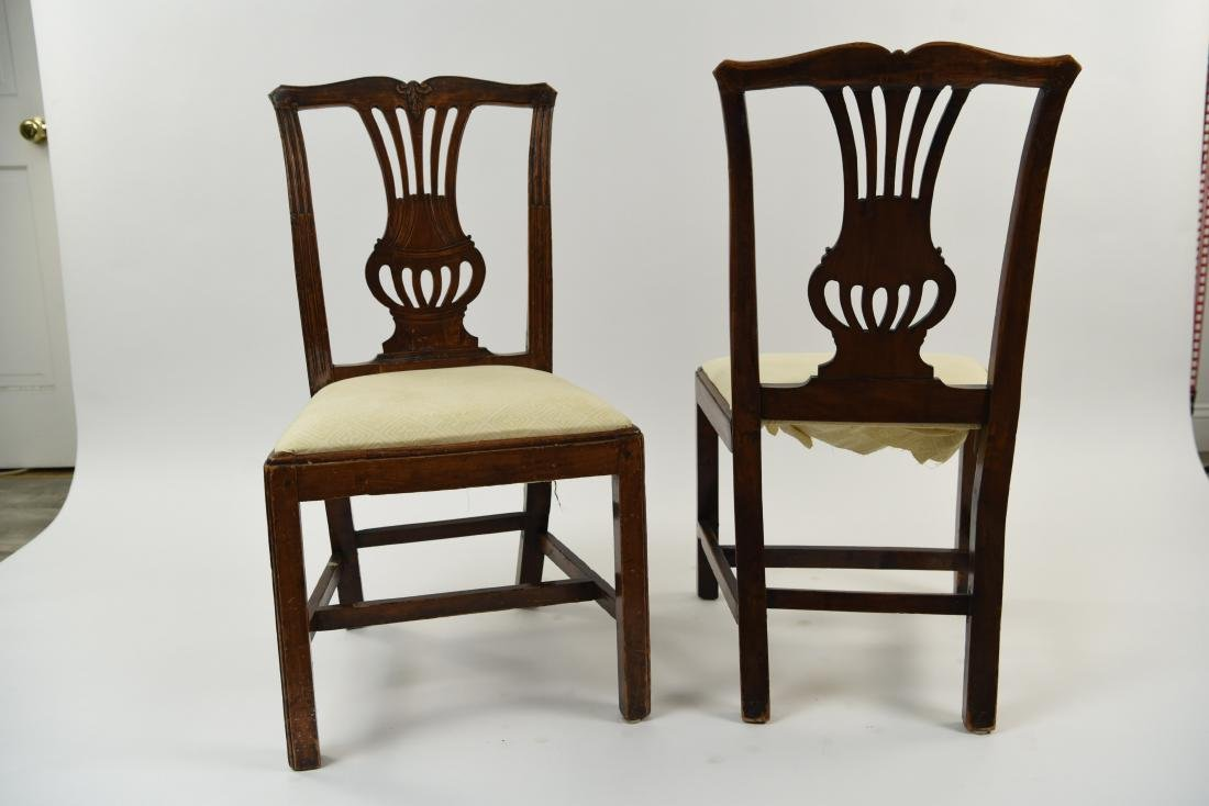 PAIR OF ENGLISH CARVED BACK SIDE CHAIRS - 10