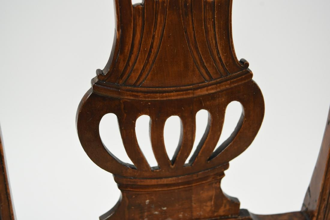 PAIR OF ENGLISH CARVED BACK SIDE CHAIRS - 5